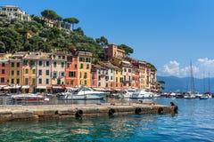 View of Portofino, Italy. Stock Images
