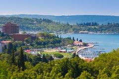 View of Portoroz town, Slovenai. Royalty Free Stock Photography
