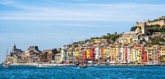 View of Portovenere, Cinque terre, Italy Stock Photography