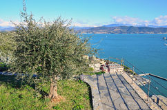 View in Portovenere, Italy Stock Photo
