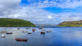 View on Portree bay, Isle of Skye, Scotland, UK Royalty Free Stock Photography