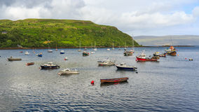 View on Portree bay, Isle of Skye, Scotland, UK. Royalty Free Stock Photography