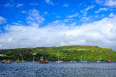 View on Portree bay, Isle of Skye, Scotland, UK. Royalty Free Stock Images
