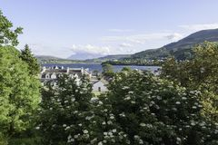 View of Portree city Stock Images