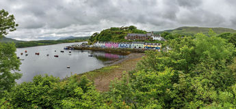 View on Portree before sunset, Isle of Skye Stock Photo