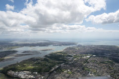 View of Portsmouth Harbour. Portsmouth Harbour from 4000 feet in a glider. In the foreground is southern Fareham and Gosport. Over the river is Portsmouth and in Royalty Free Stock Photos