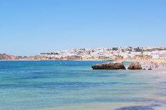 View of the Portuguese beach. Stock Photos