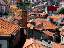 View of Portuguese roofs, Porto, Portugal stock photos