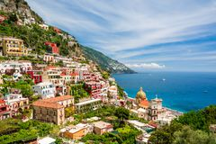 View on Positano on Amalfi coast, Campania, Italy Royalty Free Stock Photo