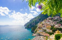 View on Positano on Amalfi coast, Campania, Italy Stock Photo