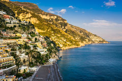 View of Positano, Amalfi Coast, Italiy Royalty Free Stock Photos