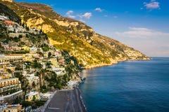 View of Positano, Amalfi Coast, Italiy Royalty Free Stock Photos