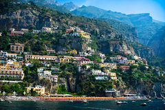 View of Positano, Amalfi Coast, Italy Stock Photography