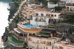 View of Positano Amalfi Coast Italy. Village of Positano Amalfi Coast Italy Royalty Free Stock Photo