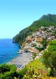 View on Positano, Campania region, Italy. View on Positano on Amalfi coast, Campania region, Italy stock photos
