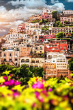 View of Positano stock photos