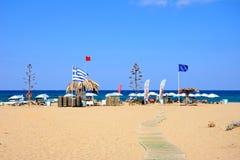 View of Potamos beach, Malia. Royalty Free Stock Image