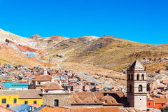 View of Potosi, Bolivia. With the San Francisco Convent in the foreground Royalty Free Stock Image