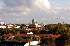 View of Potsdam, Germany, with the Garnisionskirche (Garrison Church) in the center (landscape) Royalty Free Stock Photo