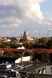 View of Potsdam, Germany, with the Garnisionskirche (Garrison Church) in the center (portrait) Stock Photos