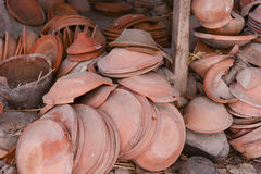 View of pottery factory in Nepal Stock Photos
