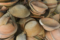 View of pottery factory in Nepal Stock Photo