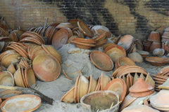 View of the pottery factory in Nepal Stock Images