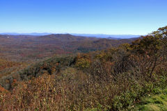 View from Pounding Mill Overlook in North Carolina Royalty Free Stock Image