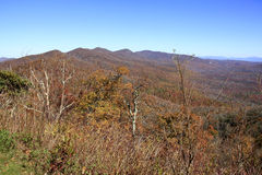 View from Pounding Mill Overlook in North Carolina Stock Photo