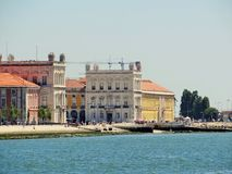 View of Praca do Comercio in Lisbon Royalty Free Stock Images