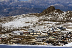 View on Pradollano ski resort in spain Stock Image