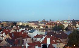 View of Prague. At the evening Stock Photos