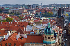 View of prague. High angle view of prague, Czech republic Royalty Free Stock Photography