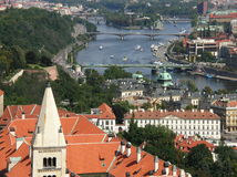 View on Prague. From St. Vitus cathedral stock photos