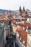 View Prague from above stock photos