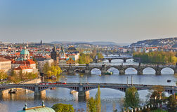 View on Prague Bridges Royalty Free Stock Photo