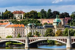 View on Prague Bridges at sunny day Stock Photography