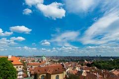 View of Prague on bright Stock Photos