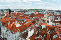 View of Prague on bright Royalty Free Stock Photo