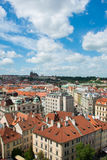 View of Prague on bright summer day Royalty Free Stock Photos