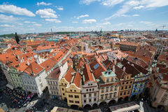 View of Prague on bright summer day Royalty Free Stock Photo
