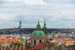 The view of prague on bright summer day Royalty Free Stock Photography
