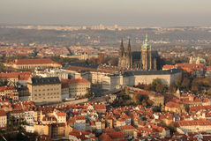 View of Prague Castle area Stock Photos