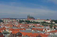 View of Prague  Castle. View of Prague city from hill Stock Image