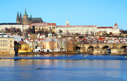 View on Prague castle. (Czech Republic Stock Photography