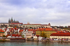 A view of the Prague Castle. Stock Photos