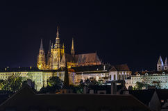 View of Prague castle in evening Stock Photo