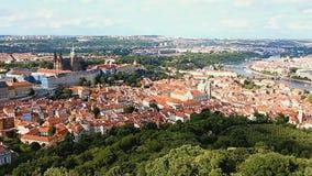 View at Prague Castle stock video