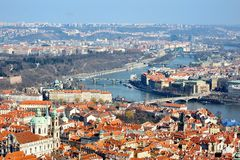View of Prague from the Castle, Hradcany Stock Photo