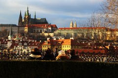 View of Prague castle. Royalty Free Stock Image